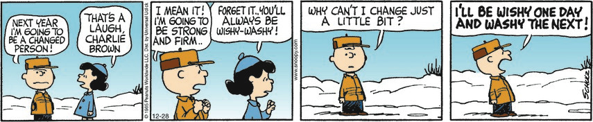 Peanuts cartoon Changes